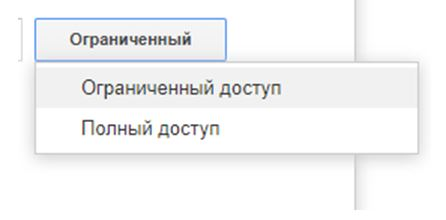 Варианты доступа в гугл вебмастере