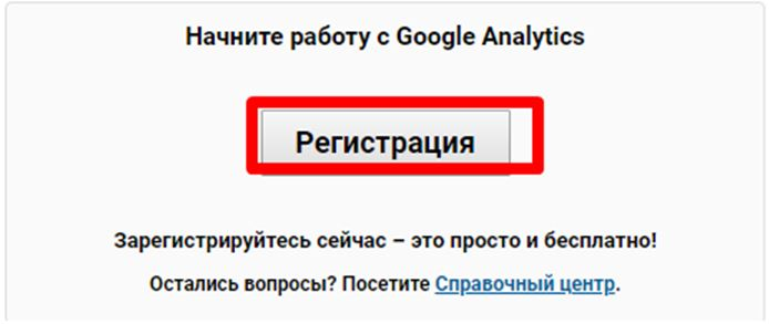 Добавление счётчика Google Analytics